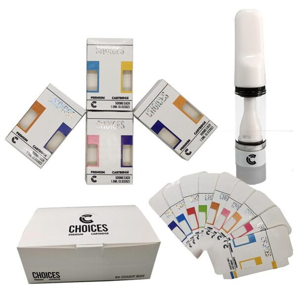Choices Carts Disposable Vape Pen Cartridge Packaging Full Ceramic